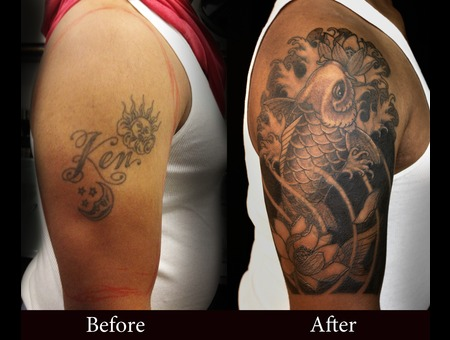 Koi  Cover Up  Waves Black Grey