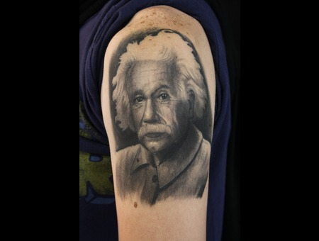 Portrait  Einstein Black Grey