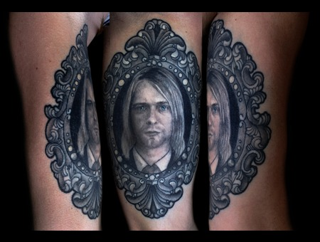 Portrait  Cobain Black Grey