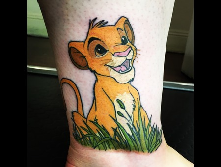 Disney  Lion King  Simba  Colour  Cute  Lion Color Lower Leg