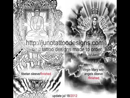 Buddha Religious Virgin Mary Skull Tibethan  Black Grey