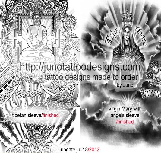 23d6b72d7 Buddha Religious Virgin Mary Skull Tibethan Black Grey. Artist: Juno