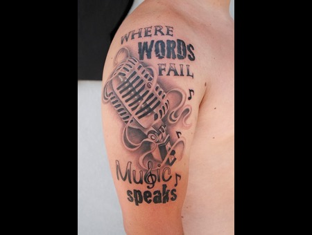 Microphone  Music  Black And Grey Black Grey Shoulder
