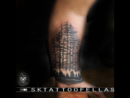 Forest Tattoo Forearm