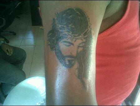 Jesus Christ Portrait Black White