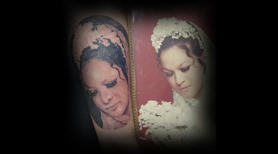 Portrait Tattoo Portrait Black And Grey Tattoo   Black Grey Forearm