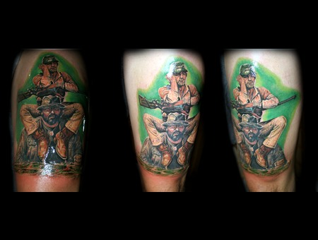 Bu Spencer Terence Hill Tattoo Full Color Tattoo Realistic Color