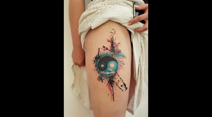 Yingyang Berat Bumin Color Lower Leg