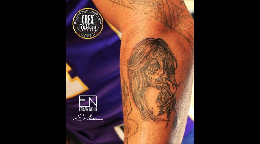 Erkan  Nehir  Tattoo  Artist  Dövmeci  Marmaris  Turkey Black Grey Forearm