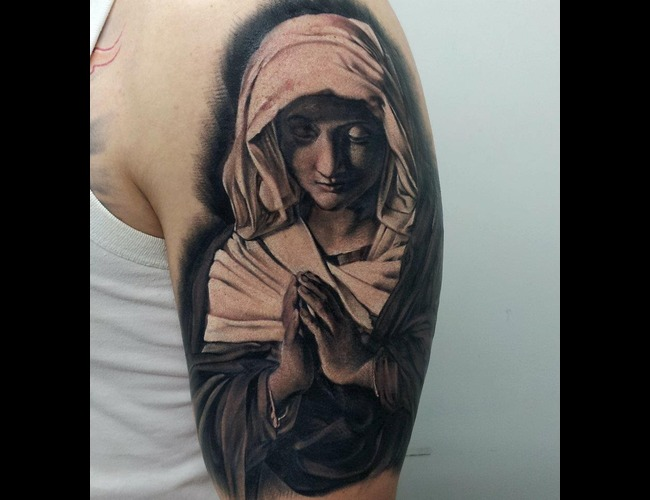 Portrait  Realistic  Virgin Mary