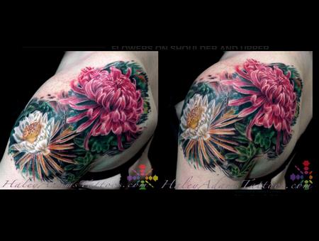 Flowers Color Shoulder