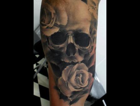 Portrait  Realistic  Rose  Skull