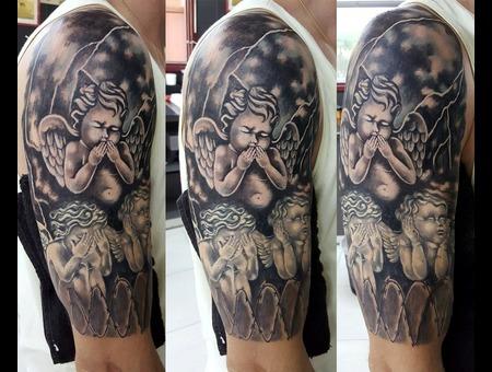 Omerta  Angels  Heruvim Black Grey Arm