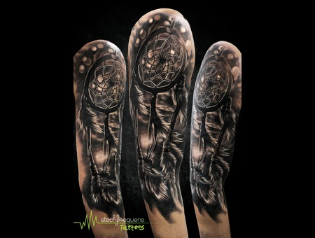 Dreamcatcher  Realistic  Lights Black Grey Arm