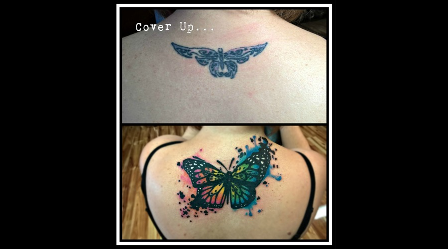 Cover Up  Watercolor  Butterfly Color Back