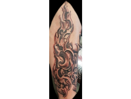 Sleeve  Horror  Twisted  Claws  Eyes  Bone Black Grey Forearm