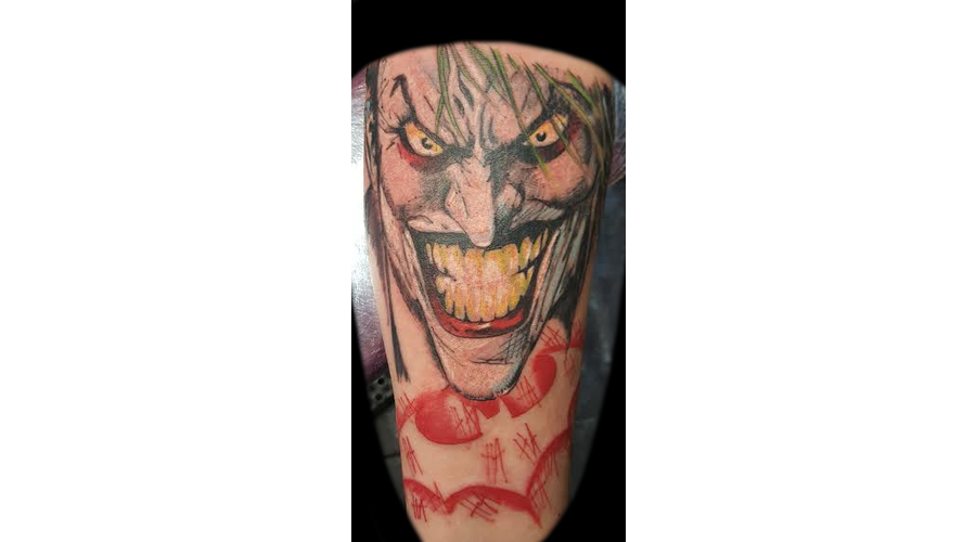 First One  Joker  Hahaha  Batman  Comic  Original  Killing  Joke   Color Forearm