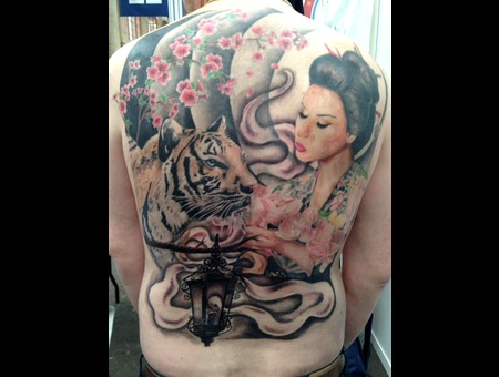 Japanese Realism Back Piece  Color Back