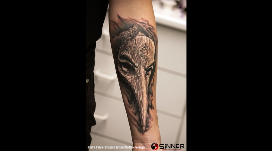 Drplague  Plague Doctor  Mask  Woodmask  Forearm