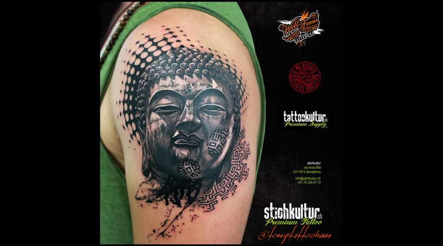 Budha Black Grey Arm