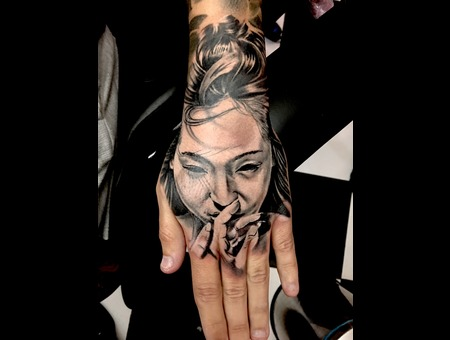 #Geisha #Geishatattoo  Black Grey