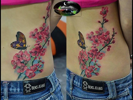 Realistic  Watercolour Color Ribs