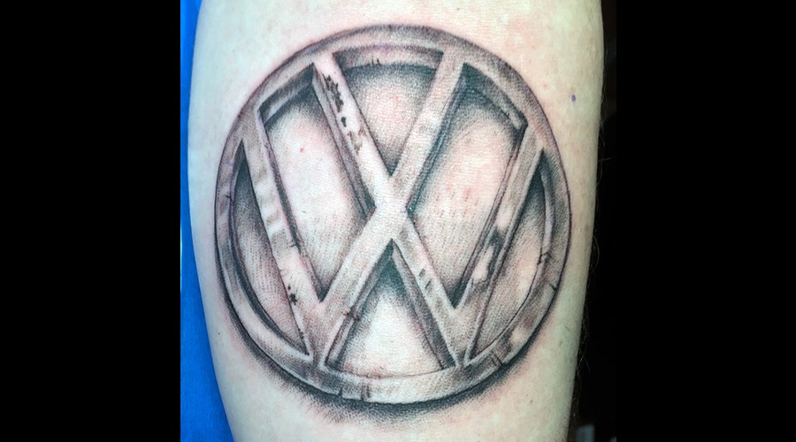 Volkswagon Black Grey Forearm