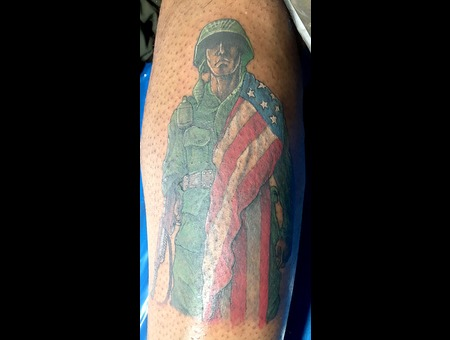 Marine In Honor & Memory Color Lower Leg
