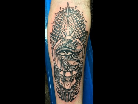 Illuminati Beauty Black Grey Forearm