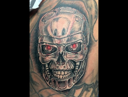 Terminator Black Grey Shoulder
