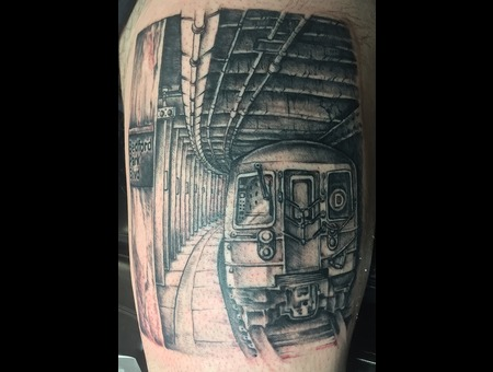 D Train  Black Grey Thigh