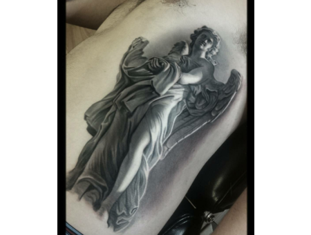 Bernini  Black And Grey  Realism  Statue Black Grey Ribs
