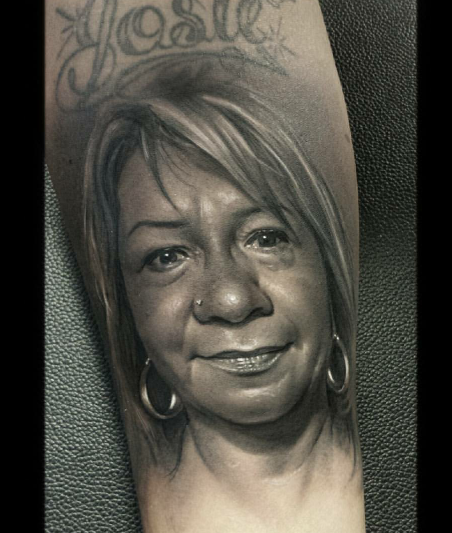 Portrait Tattoos On Forearm