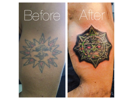 Cover Up  Aztec Sun Color Shoulder