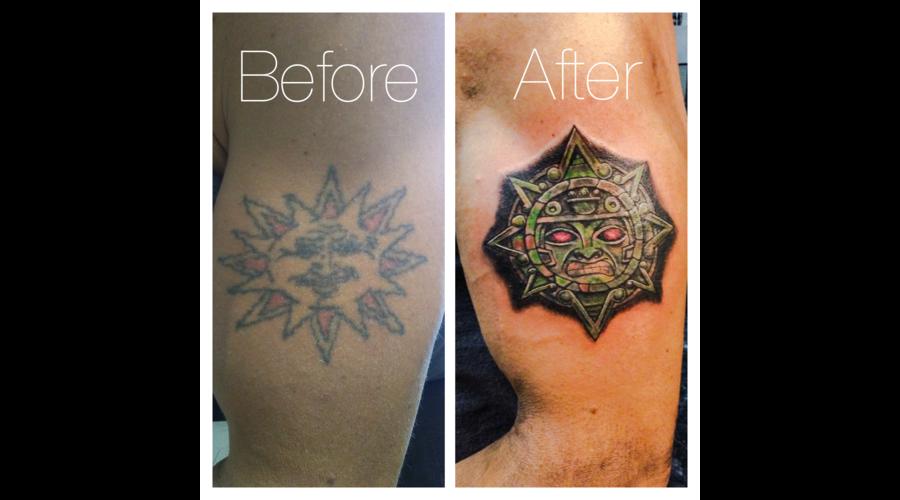 Cover Up  Aztec Sun Color Shoulder