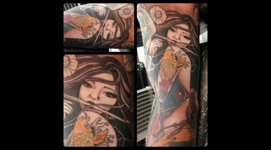 Geisha Girl Japanese Color Arm