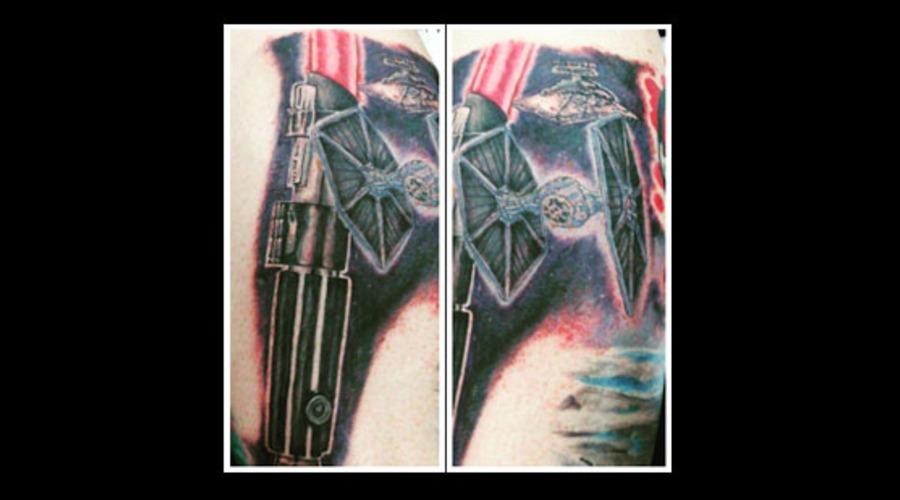 Starwars  Star Wars  Vader  Lightsaber  Hilt  Tiefighter  Tie Fighter Color Lower Leg
