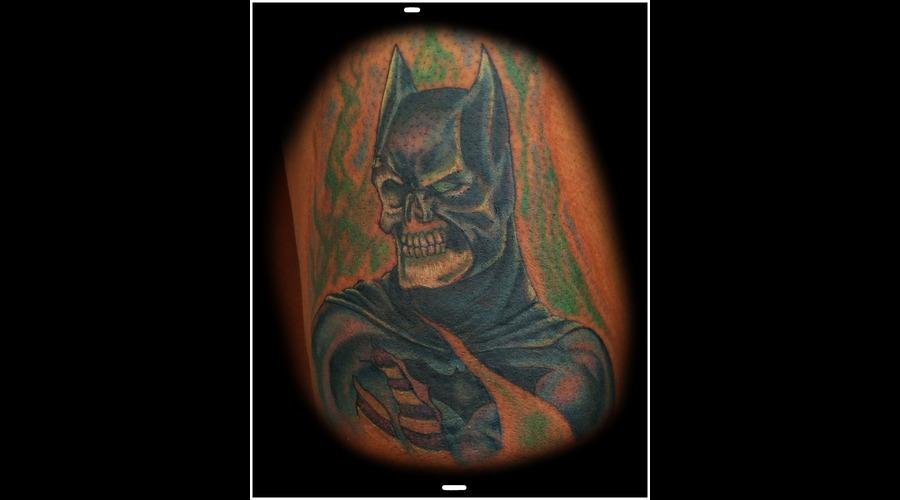 Batman  Zombie  Skull  Dark Knight  Color Thigh
