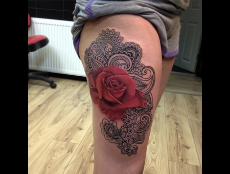 Rose Color Thigh