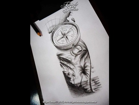 #Sketches  #Compass  #Beach Black Grey