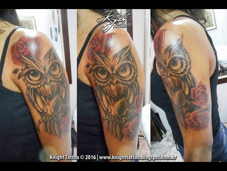 #Owl  #Roses Color Arm
