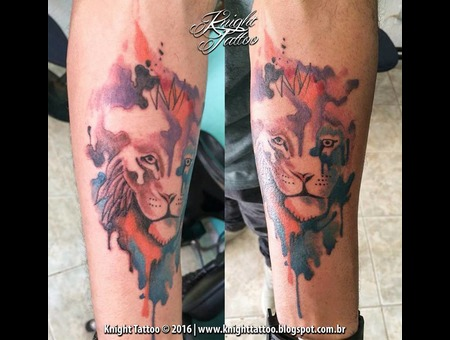 #Lion  #Watercolor Color Forearm