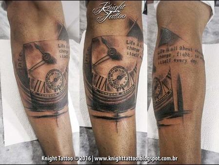 #Clock  #Surreal Black Grey Forearm