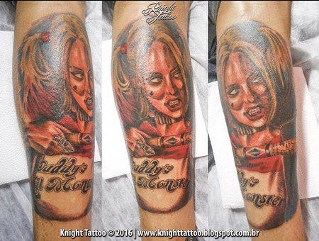 #Harley Quinn  #Suicide Squad Color Forearm