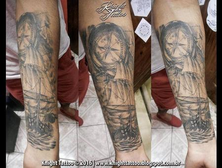 #Compass Black Grey Forearm
