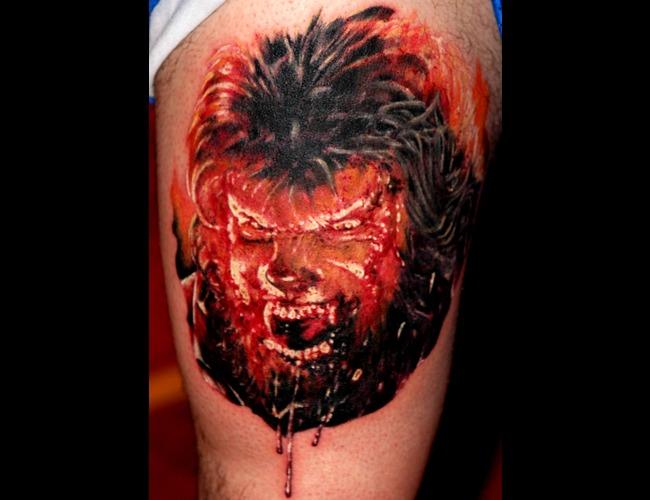 Wolf Man Portrait Color