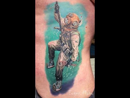 Tattoo  Art  Realistic   Color Ribs