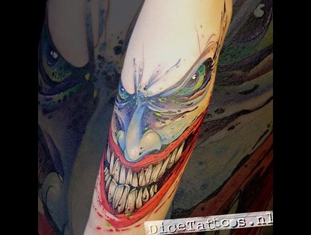 Tattoo  Art  Graphic  Joker Color Forearm