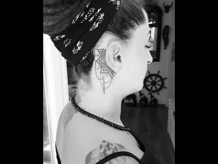 Dream Catcher  Black Grey Head