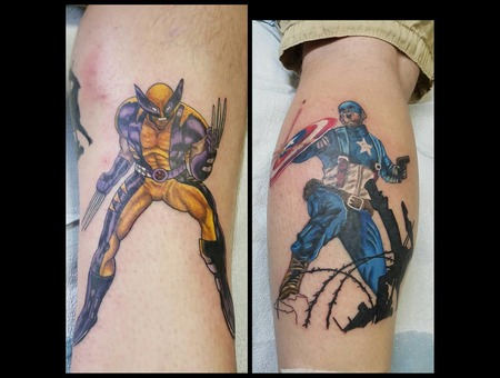 Wolverine Captianamerica Color Lower Leg